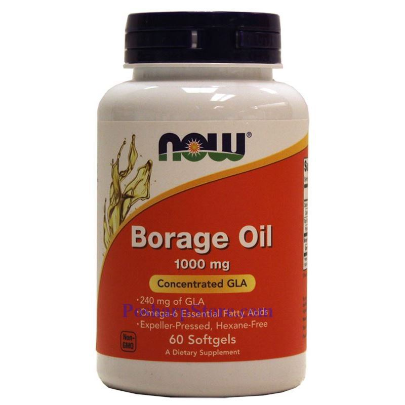 Picture for category Now Foods Borage Oil 1000 mg 60 Softgels