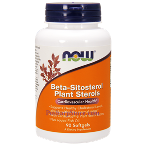 Picture of Now Foods Beta-Sitosterol Plant Sterols 90 Softgels