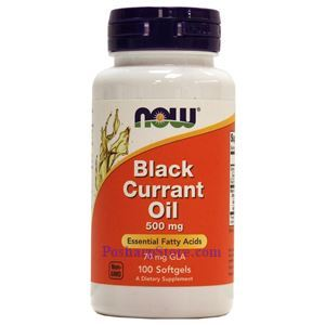 Picture of Now Foods Black Currant Oil 500 mg 100 Softgels