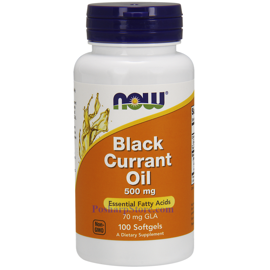 Picture for category Now Foods Black Currant Oil 500 mg 100 Softgels