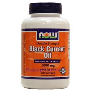 Picture of Now Foods Black Currant Oil 1000 mg 100 Softgels