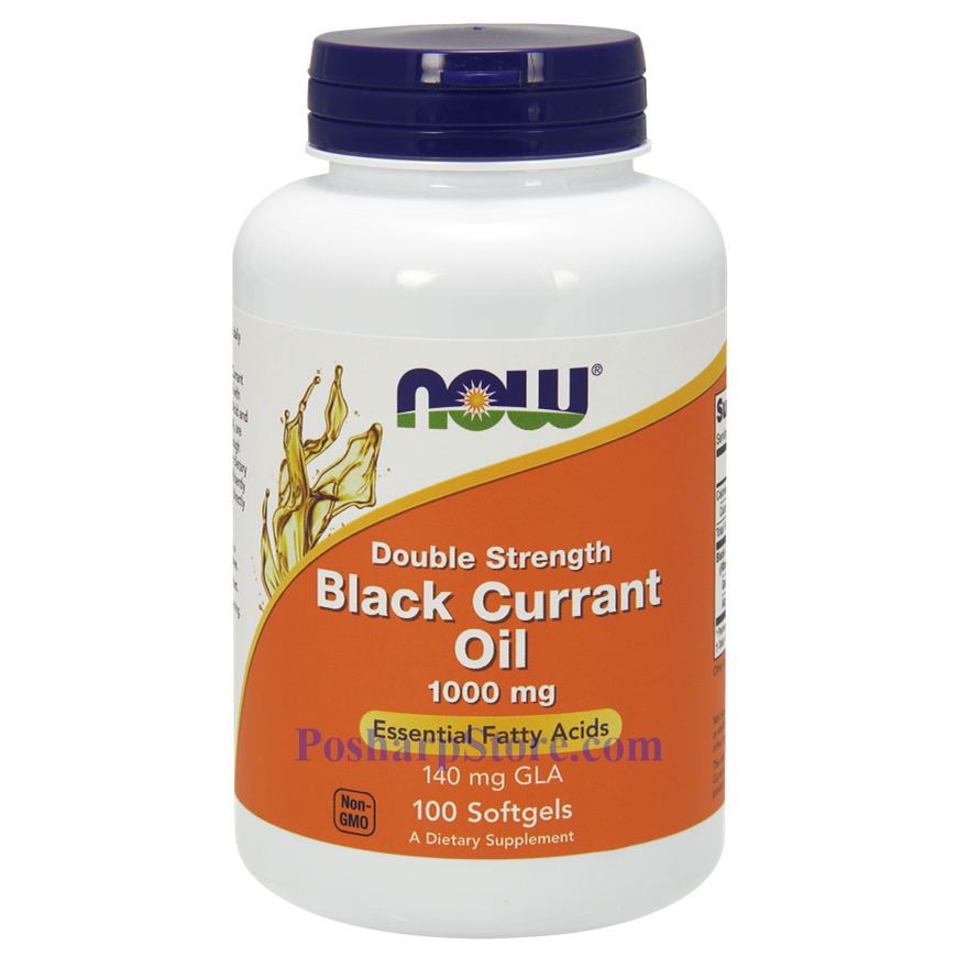 Picture for category Now Foods Black Currant Oil 1000 mg 100 Softgels