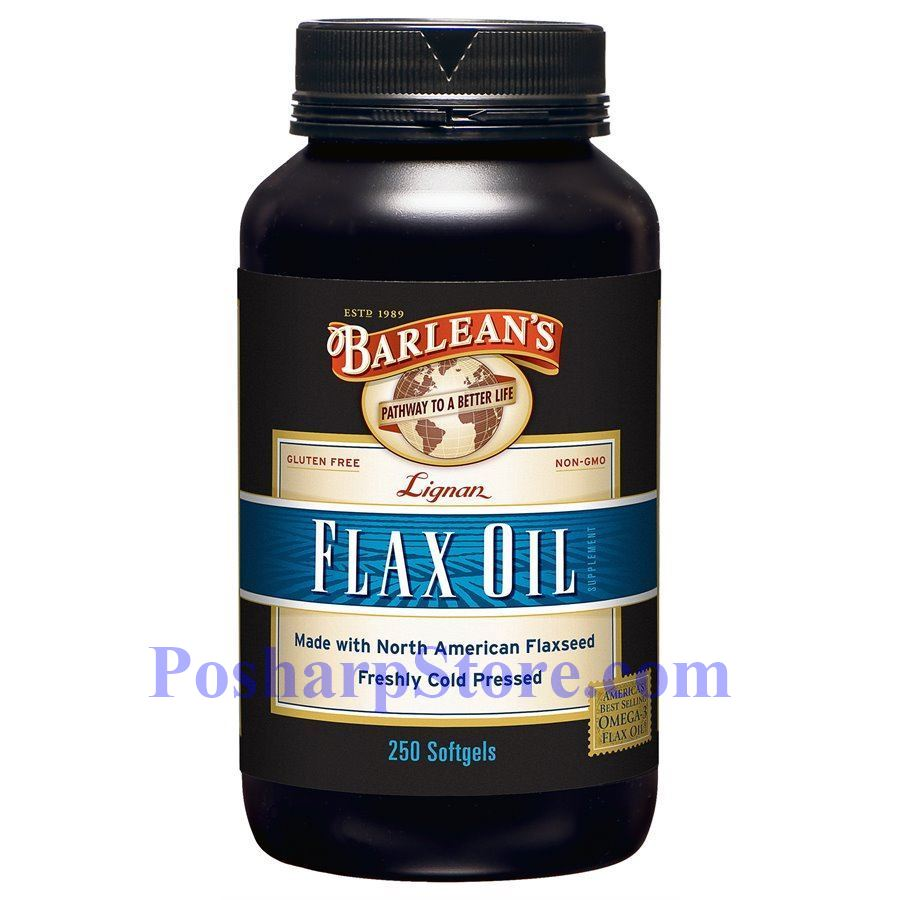 Picture for category Barlean's Lignan Flax Oil 250 Softgels