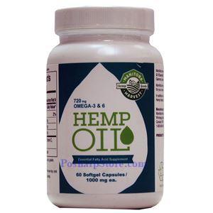 Picture of Manitoba Harvest Hemp Oil 1000 mg 60 Softgels