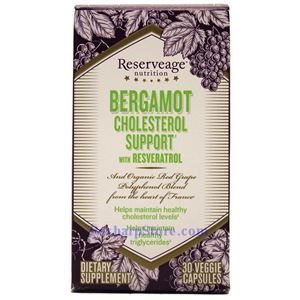 Picture of ReserveAge Bergamot Cholesterol Support with Resveratrol 30 Veggie Capsules