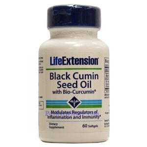 Picture of LifeExtension Black Cumin Seed Oil with Bio-Curcumin 60 Softgels