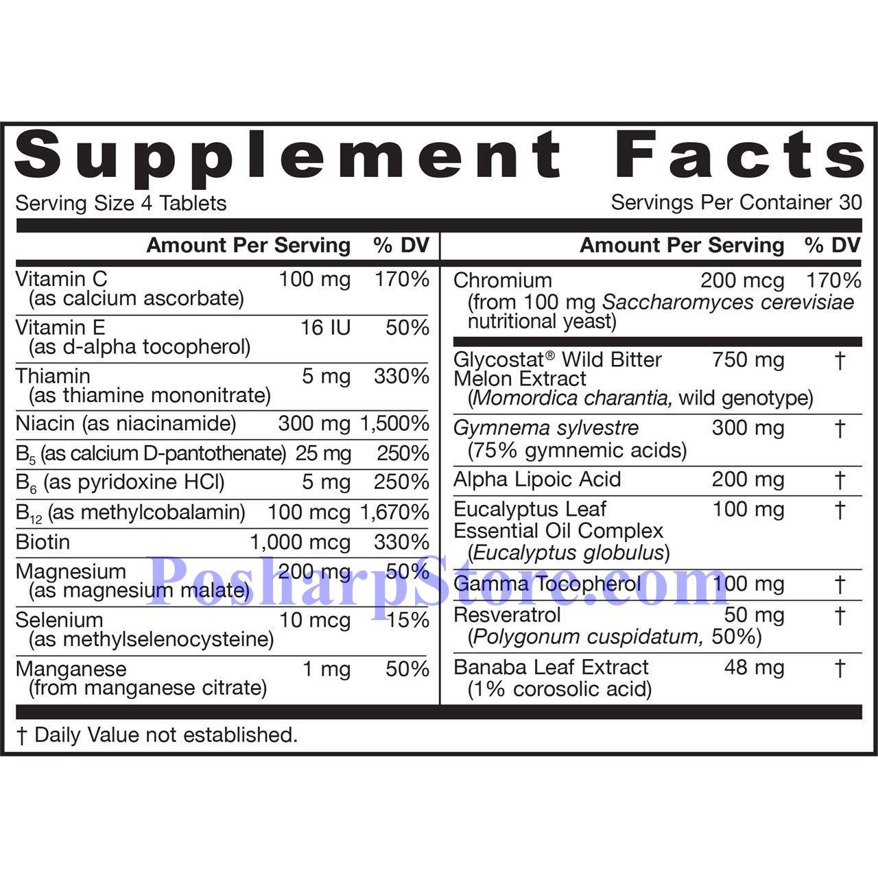 分类图片 LifeExtension牌血糖维护保健片 120粒 30天用量