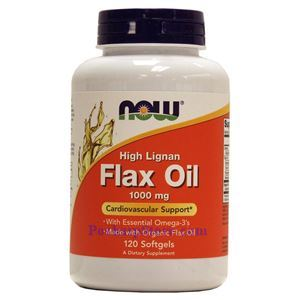 Picture of Now Foods High Lignan Flax Oil 1000 mg 120 Softgels