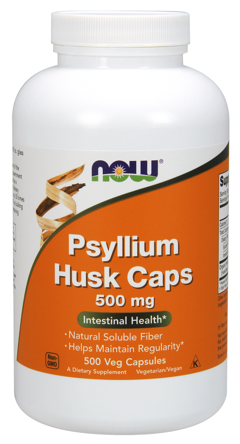 Picture for category Now Foods Psyllium Husk 500 mg 500 Capsules