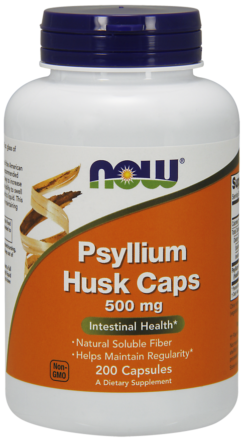 Picture for category Now Foods Psyllium Husk 500 mg 200 Capsules
