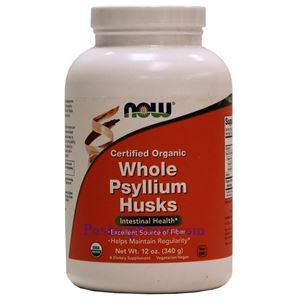 Picture of Now Foods Certified Organic Whole Psyllium Husks 12 Oz