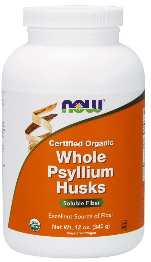 Picture for category Now Foods Certified Organic Whole Psyllium Husks 12 Oz