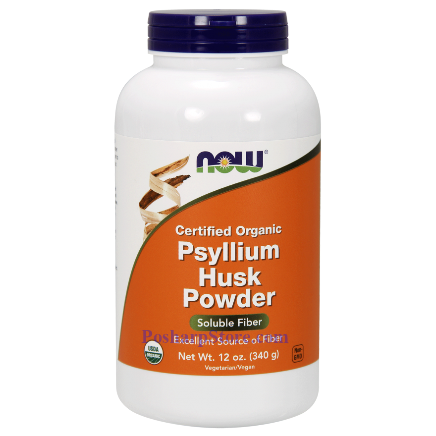 Picture for category Now Foods Certified Organic Psyllium Husks Powder 12 Oz