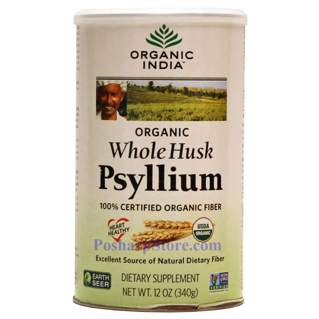 Picture for category Organic India Certified Organic Whole Husk  12 Oz