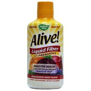 Picture of Nature's Way Alive Liquid Fiber with Prebiotics Pomegranate Berry 32 Oz 64 Servings