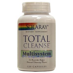 Picture of Solaray Total Cleanse Multisystem 120 Capsules