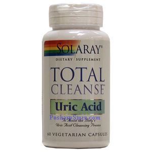 Picture of Solaray Total Cleanse Uric Acid 60 Vegetarian Capsules