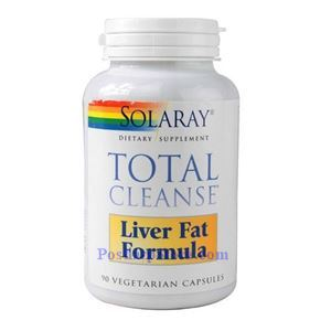 Picture of Solaray Total Cleanse Liver Fat Formula 90 Vegetarian Capsules