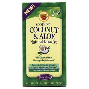 Picture of Nature's Secret Soothing Coconut & Aloe Natural Laxative 60 Tablets