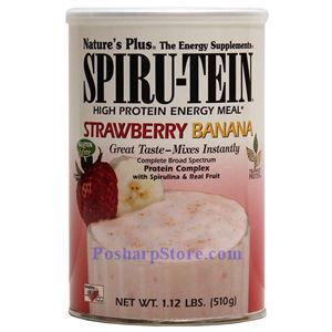 Picture of Nature's Plus Spiru-Tein® High Protein Energy Meal Strawberry Banana Flavor Shake 1.12 lbs