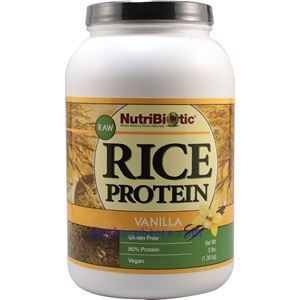 Picture of NutriBiotic Organic Rice Protein Powder Vanilla Flavor 3 Lbs