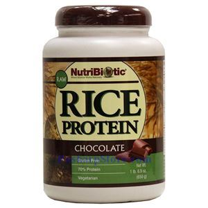 Picture of NutriBiotic Raw Rice Protein Powder Chocolate Flavor 1.69 Lbs