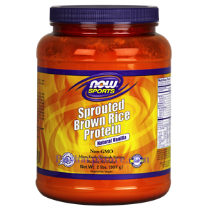 Picture of Now Foods Sprouted Brown Rice Protein Powder Vanilla Flavor 2 Lbs