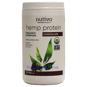 图片 Nutiva牌有机大麻籽蛋白质粉奶昔 巧克力味 454克 15天用量