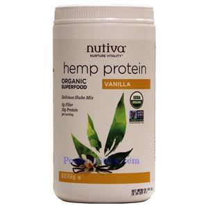 Picture of Nutiva Organic Hemp Protein Shake Mix Vanilla Flavor 16 oz