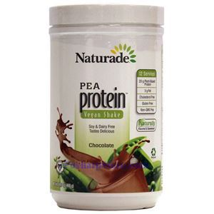 Picture of Naturade Pea Protein Vegan Shake Chocolate Flavor 16.5 oz