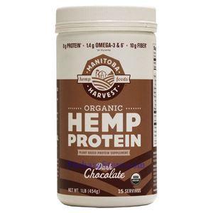 Picture of Manitoba Harvest Organic Hemp Protein Dark Chocolate Flavor 1 lb 15 Servings