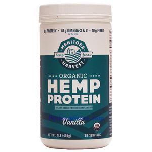 图片 Manitoba Harvest牌有机大麻籽蛋白粉奶昔 香草味 454克 15天用量