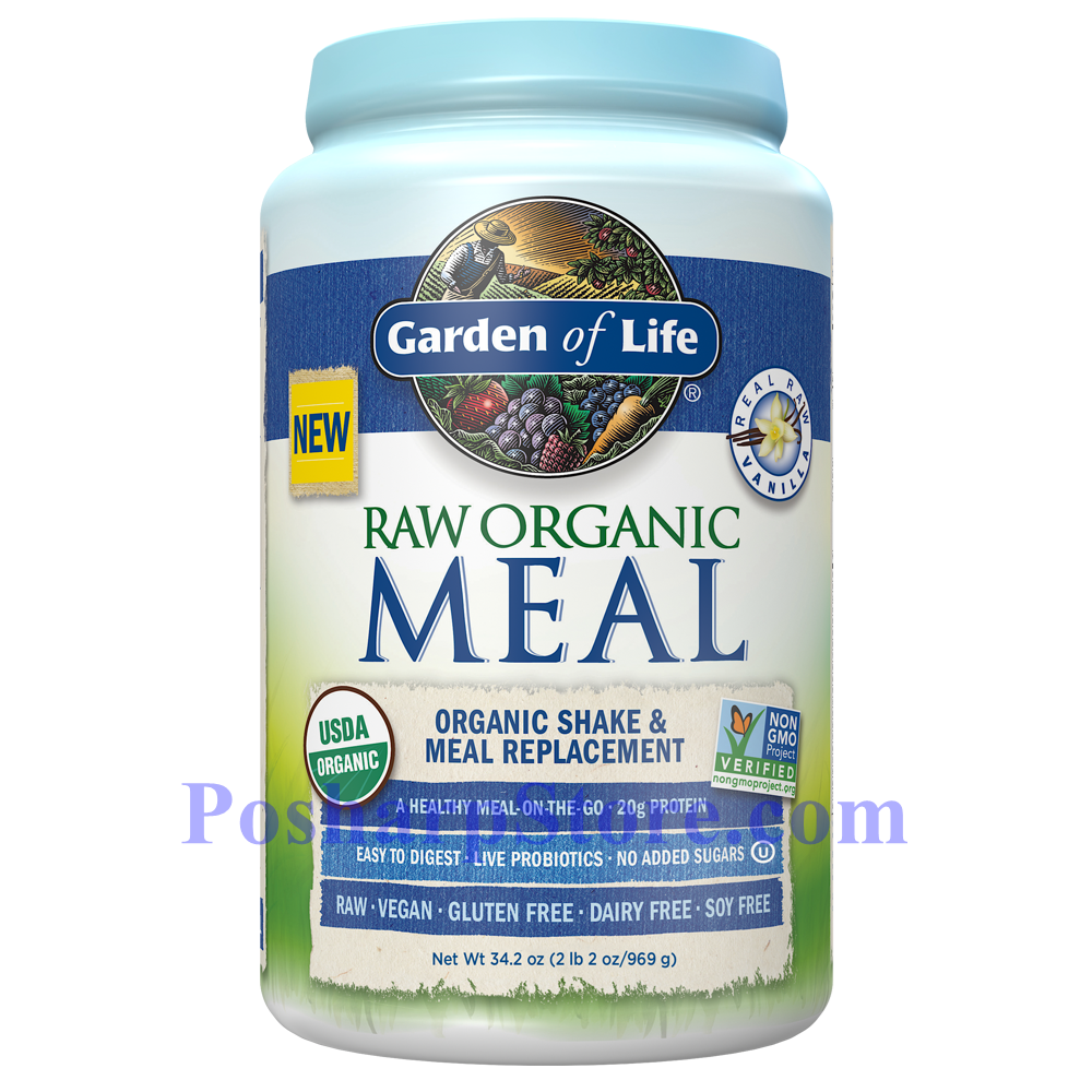 Picture for category Garden of Life RAW Organic Meal Plant Protein Shake Vanilla Flavor 34.2 Oz