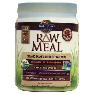 Picture of Garden of Life RAW Organic Meal Plant Protein Shake Chocolate Flavor 17.9 Oz