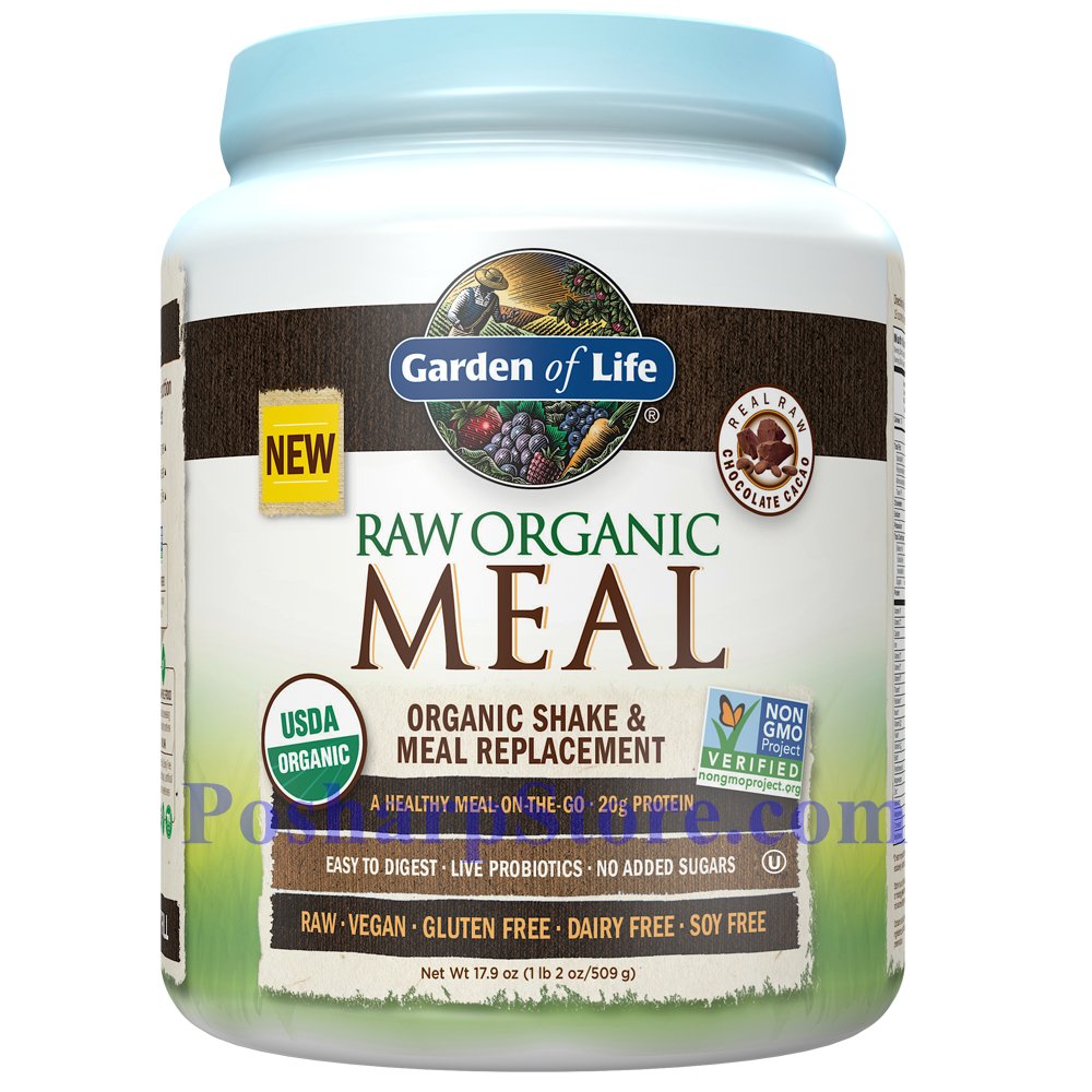 Picture for category Garden of Life RAW Organic Meal Plant Protein Shake Chocolate Flavor 17.9 Oz