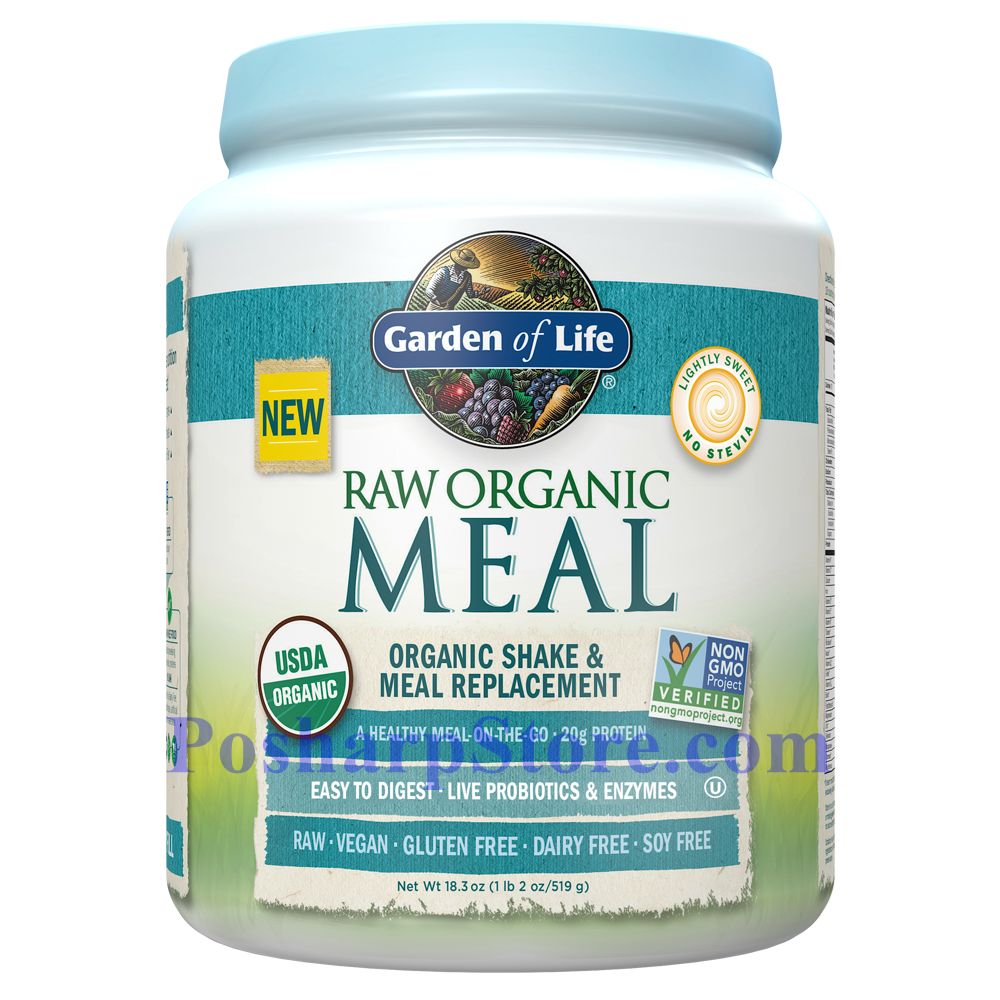 Picture for category Garden of Life RAW Organic Meal Plant Protein Shake Unflavored 18.3 Oz