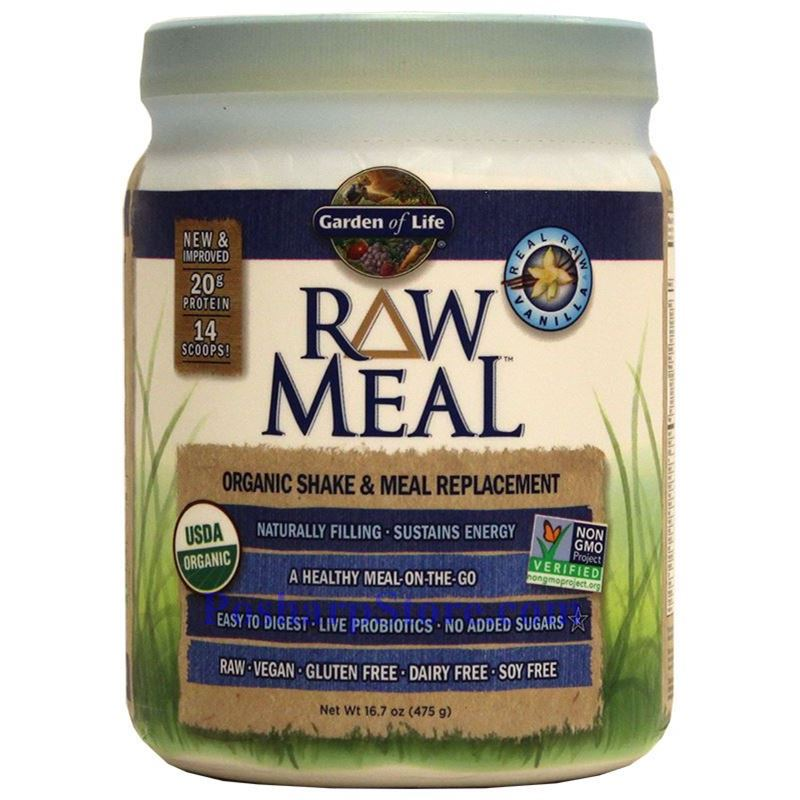 Garden of life raw organic meal plant protein shake - Garden of life vanilla protein powder ...