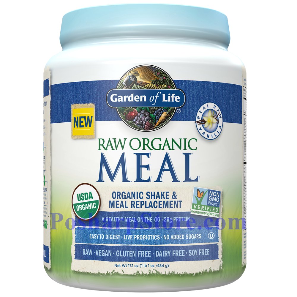 Picture for category Garden of Life RAW Organic Meal Plant Protein Shake Vanilla Flavor 17.1 Oz