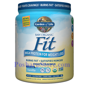 Picture of Garden of Life RAW Organic Fit High Protein for Weight Loss Vanilla Flavor 16 Oz