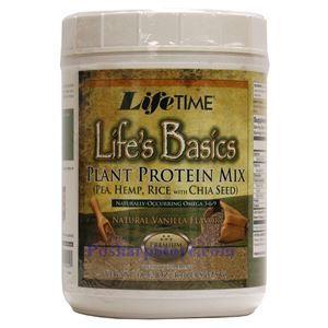 图片 Lifetime牌Life's Basics生命基础系列植物蛋白粉奶昔 香草味 525克 15天用量