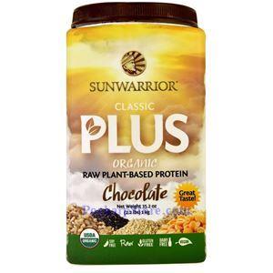 图片 Sunwarrior牌Classic Plus经典+系列有机植物蛋白粉奶昔 巧克力味 1000克 40天用量