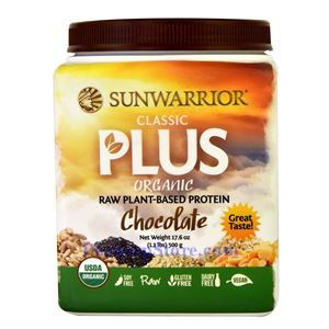 Picture of Sunwarrior Classic Plus Organic Raw Plant-Based Protein Chocolate Flavor 17.6 oz