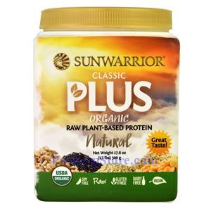 Picture of Sunwarrior Classic Plus Organic Raw Plant-Based Protein Natural Flavor 17.6 oz