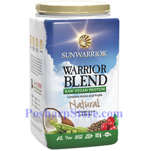 Picture of Sunwarrior Warrior Blend Raw Vegan Protein Natural Flavor 35.2 oz