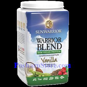 Picture of Sunwarrior Warrior Blend Raw Vegan Protein Vanilla Flavor 35.2 oz