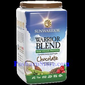 图片 Sunwarrior牌Warrior Blend 系列有机蔬菜蛋白粉奶昔 巧克力味 1000克 40天用量