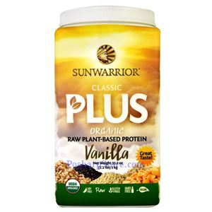 Picture of Sunwarrior Classic Plus Organic Raw Plant-Based Protein Vanilla Flavor 35.2 oz