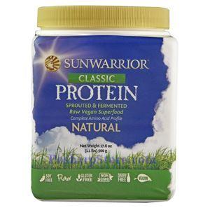 图片 Sunwarrior牌Classic Protein经典蛋白系列全谱氨基酸蔬菜蛋白粉奶昔 原味 500克 20天用量