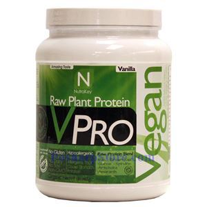 Picture of NutraKey VPRO Raw Plant Protein Vanilla Flavor 1 lbs