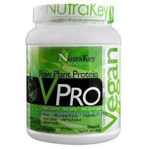 图片 NutraKey牌VPRO 系列有机植物蛋白粉奶昔 原味 383克 18天用量